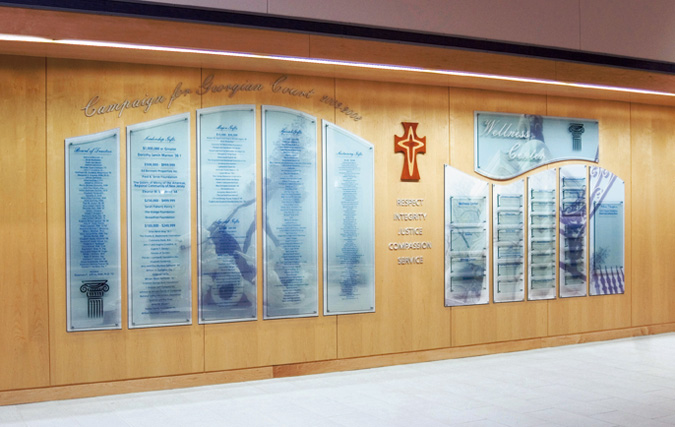 Donor Walls Designs By W E Baum