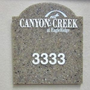 Click to Enlarge Corian Room Plaque