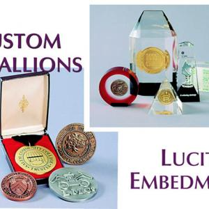 Click to Enlarge Medallions and Lucite Embedments